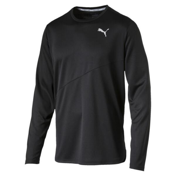 T-Shirt de course IGNITE à manches longues pour homme, Puma Black, large