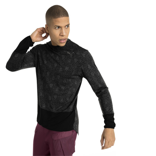 Energy Long Sleeve Tech Men's Running Top, Puma Black, large