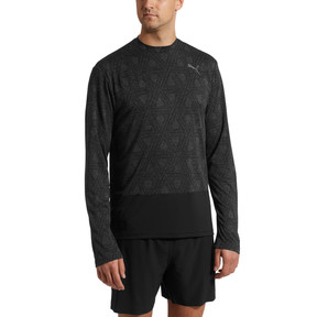 Thumbnail 2 of Energy Long Sleeve Tech Hooded Men's Running Top, Puma Black, medium