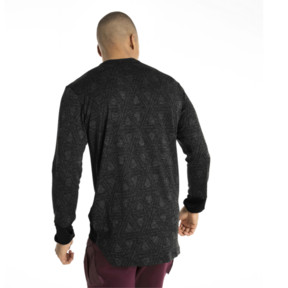 Thumbnail 3 of Energy Long Sleeve Tech Hooded Men's Running Top, Puma Black, medium