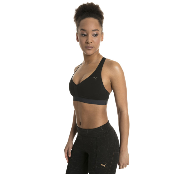 Lite Mid/High Impact Women's Bra Top, Puma Black, large