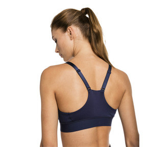 Thumbnail 2 of Mid Impact Logo Women's Bra Top, Peacoat, medium