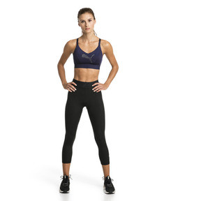 Thumbnail 3 of Mid Impact Logo Women's Bra Top, Peacoat, medium