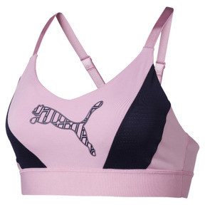 Thumbnail 4 of Training Damen Mid Impact Logo BH-Top, Pale Pink, medium