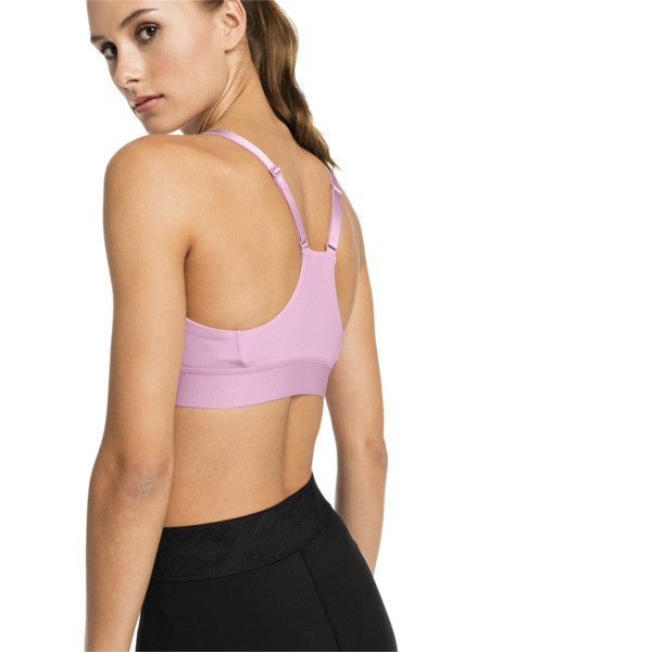 Training Damen Mid Impact Logo BH-Top, Pale Pink, large