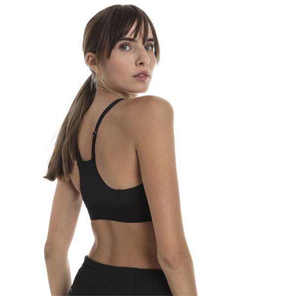 Top soutien-gorge Training Mid Impact Logo pour femme, Puma Black, large