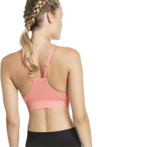 Thumbnail 2 of Mid Impact Logo Women's Bra Top, Bright Peach, medium