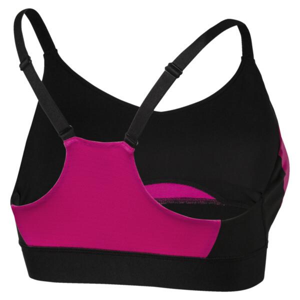 Training Damen Mid Impact Logo BH-Top, Puma Black-Fuchsia Purple, large