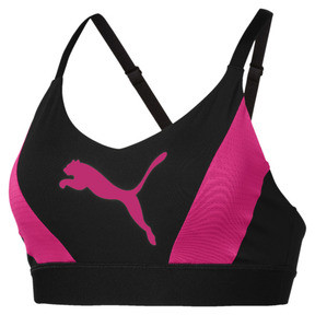 Thumbnail 4 of Training Damen Mid Impact Logo BH-Top, Puma Black-Fuchsia Purple, medium