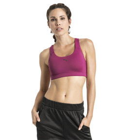 Thumbnail 1 of Training Damen 4Keeps Mid Impact BH-Top, Magenta Haze-PUMA back, medium