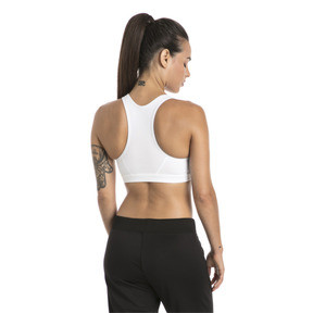 Thumbnail 2 of 4Keeps Mid Impact Women's Bra Top, Puma White-CAT, medium