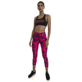 Thumbnail 3 of 4Keeps Mid Impact Women's Bra Top, Puma Black-Bright Peach PUMA, medium