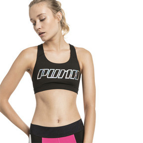 Thumbnail 1 of 4Keeps Mid Impact Women's Bra Top, Black-Holographic CF PUMA, medium
