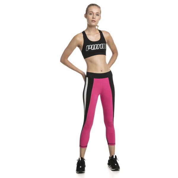 Training Damen 4Keeps Mid Impact BH-Top, Black-Holographic CF PUMA, large
