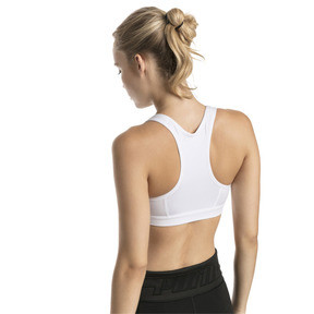 Thumbnail 2 of 4Keeps Mid Impact Women's Bra Top, Puma White-Holographic CAT, medium