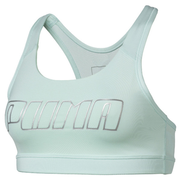 Training Damen 4Keeps Mid Impact BH-Top, Fair Aqua-Silver PUMA, large
