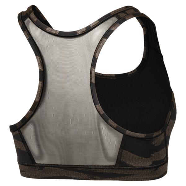 4Keeps Graphic Bra M, black-met bronze-shimmer prt, large