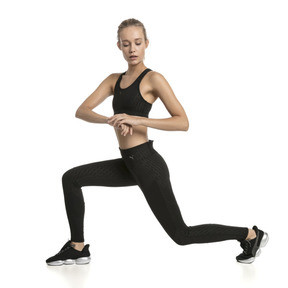 Thumbnail 3 of Training Damen 4Keeps Graphic Mid Impact BH-Top, Puma Black-Emboss, medium