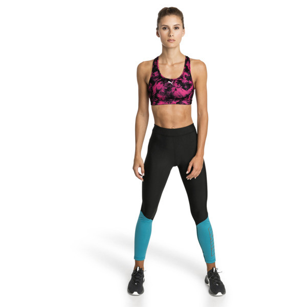 Training Damen 4Keeps Graphic Mid Impact BH-Top, fuchsia purple-puma black, large