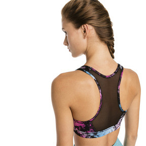 Thumbnail 2 of Training Damen 4Keeps Graphic Mid Impact BH-Top, black-Multi color graphic, medium