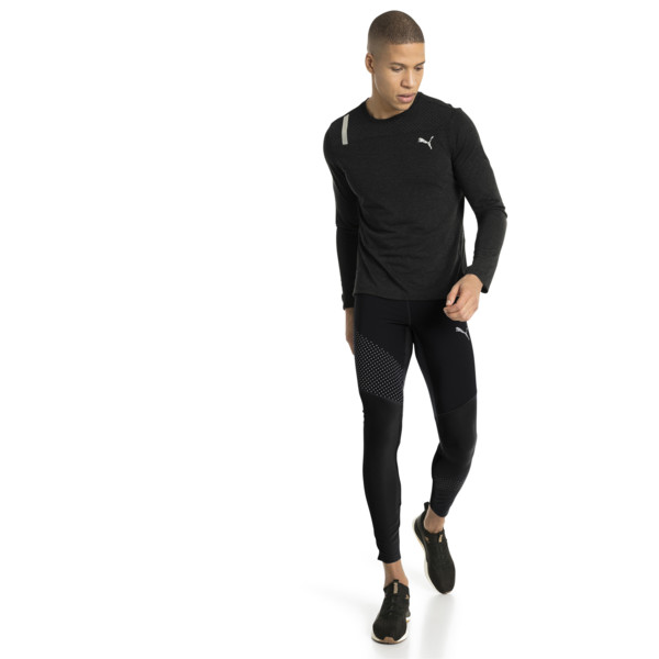 Winter Men's Running Tights, Puma Black, large