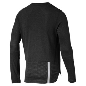 Thumbnail 4 of Warming Long Sleeve Men's Training Top, Puma Black Heather, medium