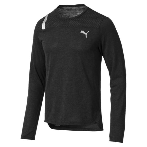 Warming Long Sleeve Men's Training Top, Puma Black Heather, large