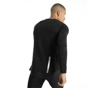Thumbnail 3 of Warming Long Sleeve Men's Training Top, Puma Black Heather, medium