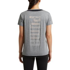 Thumbnail 3 of Slouchy-V Mesh T-Shirt, MGH-Puma Black, medium