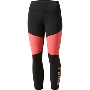 Thumbnail 1 of Sharp Shape 3/4 Tights, Puma Black-Paradise Pink, medium