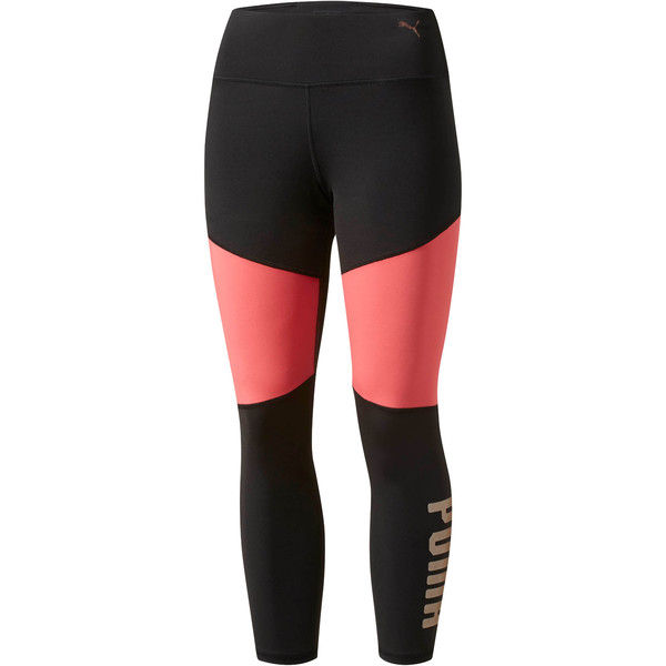 Sharp Shape 3/4 Tights, Puma Black-Paradise Pink, large