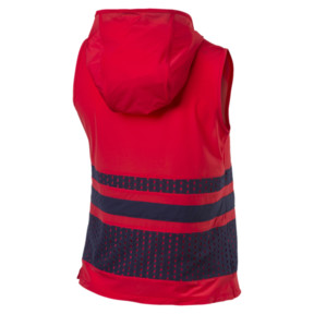 Thumbnail 4 of Varsity Sleeveless Women's Hoodie, Ribbon Red, medium