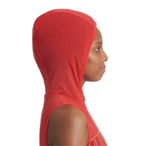 Thumbnail 5 of Varsity Sleeveless Women's Hoodie, Ribbon Red, medium