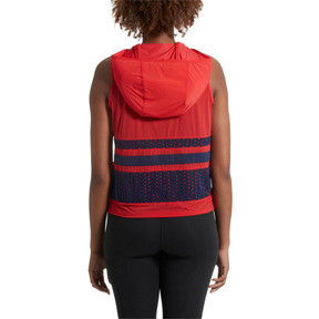 Thumbnail 3 of Varsity Sleeveless Women's Hoodie, Ribbon Red, medium