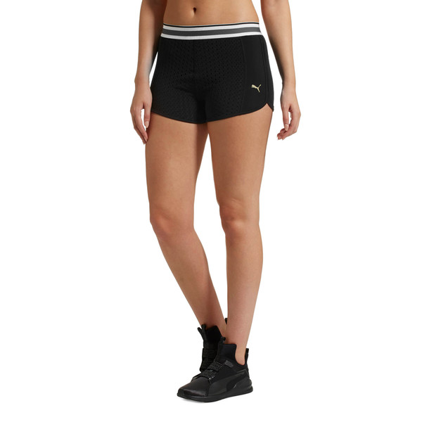Varsity Women's Training Shorts, Puma Black, large