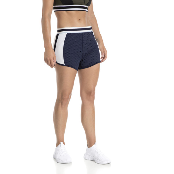 Varsity Women's Training Shorts, Peacoat, large