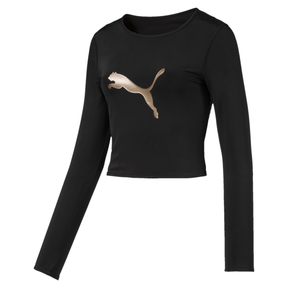 Image Puma Luxe Long Sleeve Women's Crop Top #1