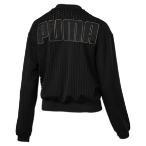 Thumbnail 4 of Luxe Zip-Up Women's Jacket, Puma Black, medium