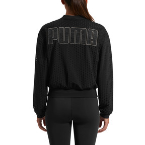Thumbnail 3 of Luxe Zip-Up Women's Jacket, Puma Black, medium