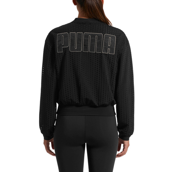 Luxe Zip-Up Women's Jacket, Puma Black, large