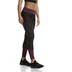 Thumbnail 2 of Luxe Mesh Women's Tights, Fig-Puma Black, medium