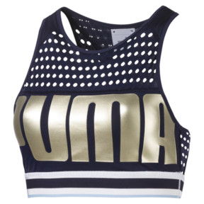 Thumbnail 1 of PUMA Bra M, Peacoat-MetallicGoldPUMA, medium