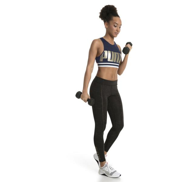 Top soutien-gorge Training Mid Impact pour femme, Peacoat-MetallicGoldPUMA, large