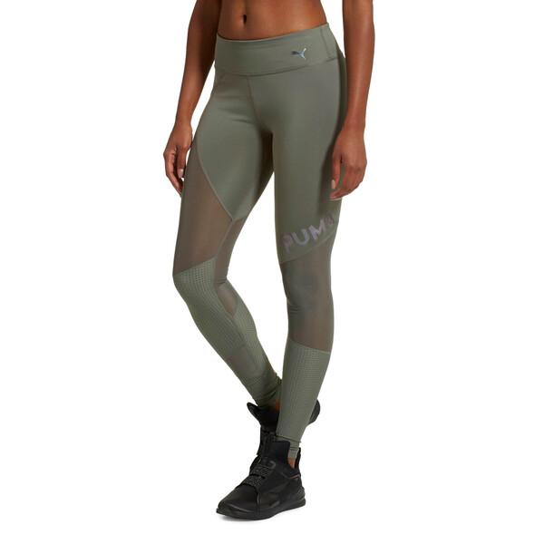 Punch Long Women's Leggings, Castor Gray, large