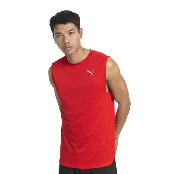 T-Shirt de course sans manche IGNITE Mono pour homme, High Risk Red, large