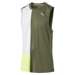 Thumbnail 4 of T-Shirt de course sans manche IGNITE pour homme, Olivine-Puma White, medium