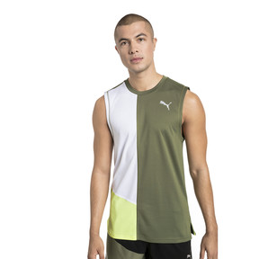 Thumbnail 1 of IGNITE Herren Ärmelloses Laufshirt, Olivine-Puma White, medium