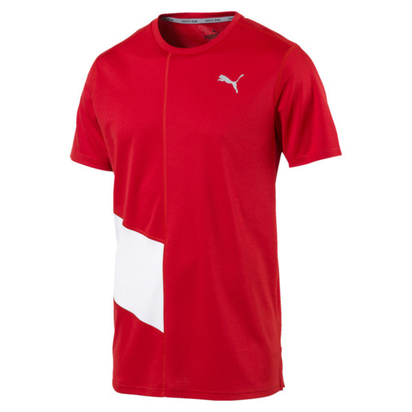 Ignite Men's Tee, High Risk Red-Puma White, large