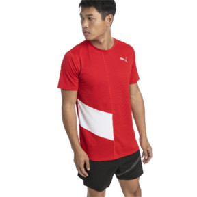 Thumbnail 2 of Ignite Men's Tee, High Risk Red-Puma White, medium