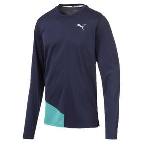 Miniatura 4 de Camiseta Ignite de mangas largas para hombre, Peacoat-Blue Turquoise, mediano